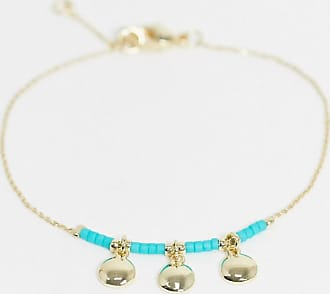 & Other Stories mini pendant trio bracelet in gold