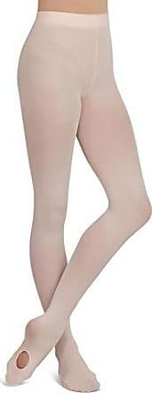 Caramel Capezio Big Girls Ultra Soft Hip Rider Capri Tight Socks One Size
