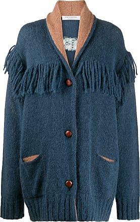 Philosophy di Lorenzo Serafini chunky knit fringed detail cardi-coat - Blue