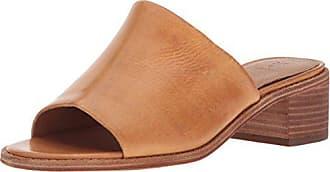 Frye Womens Cindy Mule Heeled Sandal, Natural, 9 M US