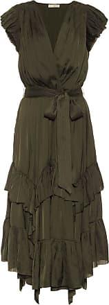 Ulla Johnson Abella tiered satin midi dress
