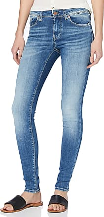 Vero Moda Womens Vmlux Mr Slim Jeans Ri310 Noos, Medium Blue Denim, 28W / 32L
