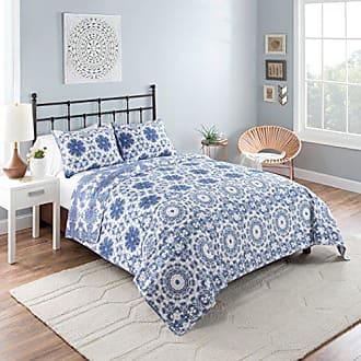 Ellery Homestyles Vue Stella Quilt Set, King, Blue