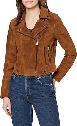 Vero Moda Womens Vmroycesalon Short Suede Jacket Noos Leather, Brown Cognac, X-Large
