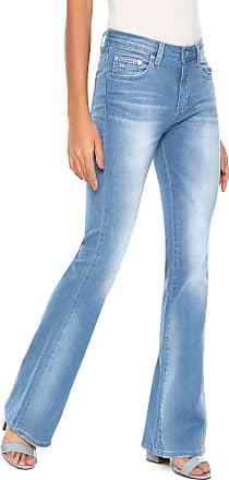 d565ab9d185e1 Lacoste Calça Jeans Lacoste Flare Estonada Azul