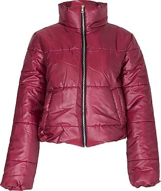 Noroze Womens Crop Jacket Padded Puffer Coat Cropped (Wine, 8)