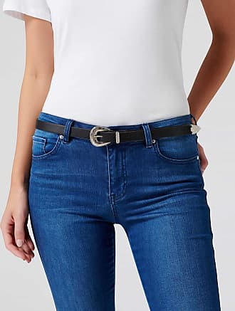 Forever New Baby Shelby Western Belt - Black/ Silver - xs s
