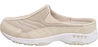 Easy Spirit Womens Traveltime Mule, Light Natural/White Suede, 9 W US