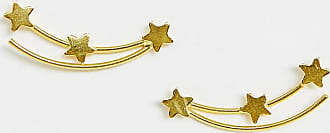 Kingsley Ryan sterling silver gold plated shooting star ear climber