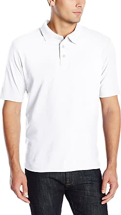 Hanes Mens X-Temp Performance Polo Shirt (1 Pack or 2 Pack) - White - Large