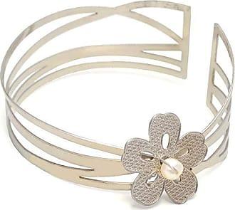 Tinna Jewelry Pulseira Bracelete Flor Cinco Pétalas (Prateado)