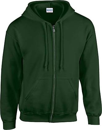 Gildan Gildan Heavy Blend Unisex Adult Full Zip Hooded Sweatshirt Top (XL) (Forest Green)