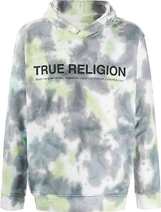 True Religion Moletom com capuz e estampa tie-dye - Branco