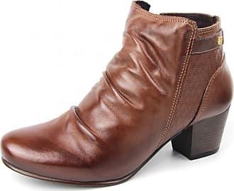 Perlatto Bota Coturno Perlatto Ankle Boot Com Elástico Cano Baixo Mogno