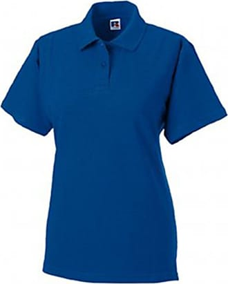 L Bright Red Jerzees Colours Ladies 65//35 Hard Wearing Pique Short Sleeve Polo Shirt