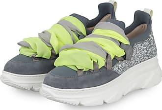 181 Plateau-Sneaker KYOG mit Schmucksteinbesatz - GRAU
