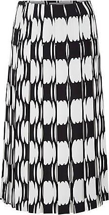 BOSS Plissé midi skirt with collection motif