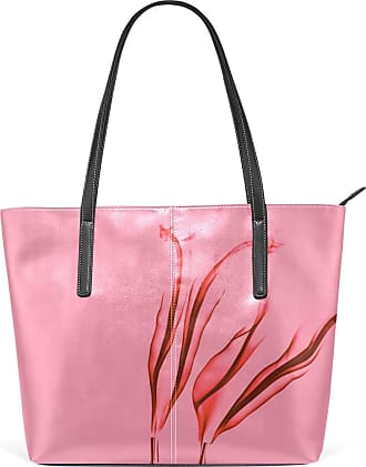 NaiiaN for Women Girls Ladies Student Shoulder Bags City Purse Shopping Leather Pink Flower Smoke Dreamy Light Weight Strap Tote Bag Handbags