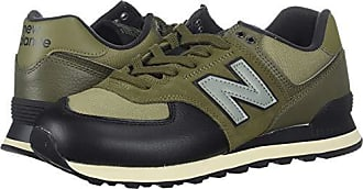 239bce40c6539 New Balance Mens Iconic 574 Sneaker, Covert Green/Triumph Green, 7.5 2E US