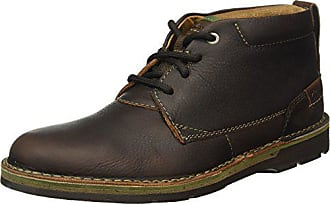 f315c6a6f81b Clarks Herren Edgewick Mid Kurzschaft Stiefel Braun (Brown Oily Leather) 41  EU
