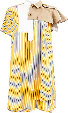 sacai striped shirt dress - Yellow