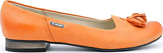 Zapato Womens Leather Ballet Flats Model 009 Orange