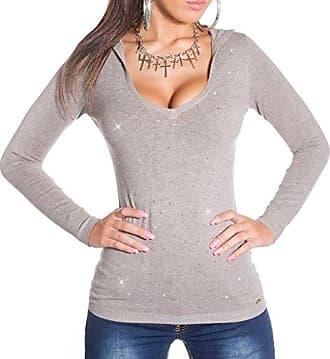 34//36//38 Pullover KouCla Wickellook Pulli mit Strass Strickpullover Shirt Gr