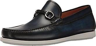 Magnanni Mens Marbella Slip-On Loafer, Navy, 11.5 M US