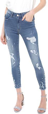 Lez a Lez Calça Jeans Lez a Lez Skinny Aplicações Azul