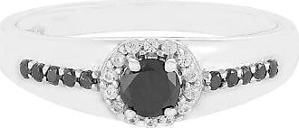 Juwelo Schwarzer Diamant Ring Silber Diamant Schmuck Diamant Schwarz