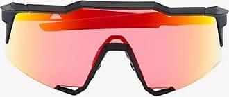 100% Eyewear Mens Black Multicolour Speedcraft Tinted Square Sunglasses