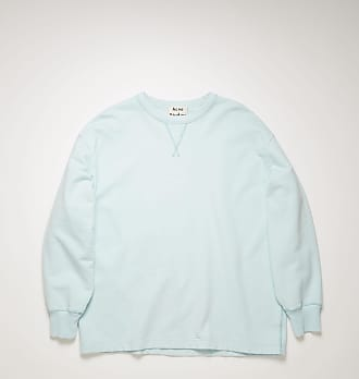 Acne Studios FN-MN-SWEA000077 Puderblau Sweatshirt mit gewendetem Logo