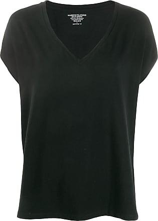 Majestic Filatures Camiseta modelagem solta - Preto