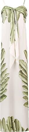 Johanna Ortiz Vestido longo com estampa de palmeiras - Neutro