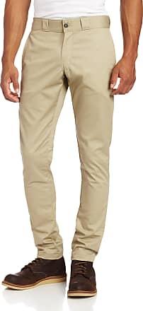 Dickies Mens Skinny Straight-Fit Work Pant - Beige - 32W x 32L
