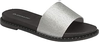 Dunlop Flip Flops Toe Post Slip On Sandals Flat Cushioned (Ava Silver, Numeric_7)