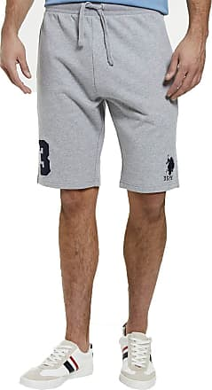 U.S.Polo Association U.S. Polo Assn Mens Player Sweat Shorts - Vintage Grey Heaven - XX Large