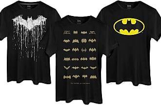 DC Comics Kit com 3 Camisetas Masculinas Guarda-Roupas da Batcaverna