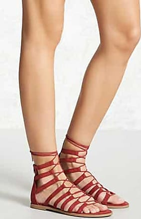 Forever 21 Forever 21 Faux Suede Gladiator Sandals Berry