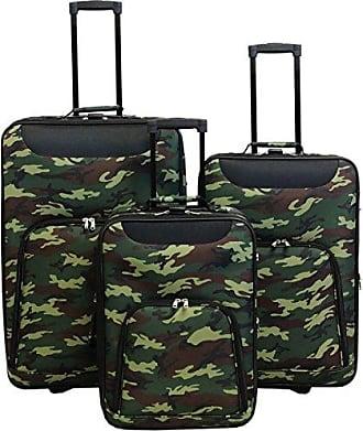 World Traveler Vogue Expandable Upright Luggage Set, Camouflage