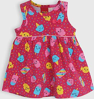KYLY Vestido Kyly Infantil Sorvete Rosa