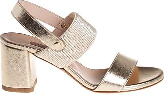 Albano sandalo con inserto elasticizzato, 41 / platino