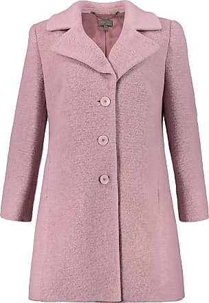 Ulla Popken Womens Plus Size Notch Collar Wool Blend Coat Hyacinth 20 713776 82-46