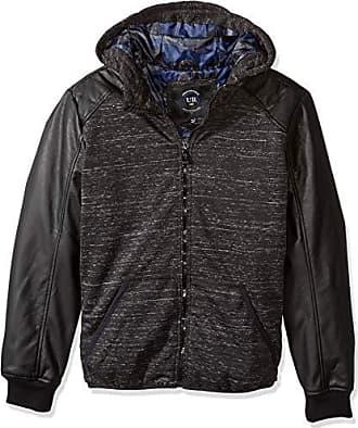 Urban Republic Mens Melange Jersey Jacket, Black, XL