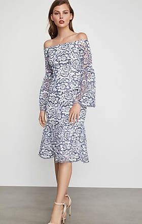BCBGeneration Jesse Floral Lace Midi Skirt