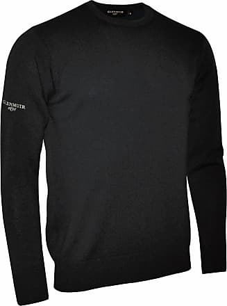 Glenmuir Morar Mens Crew Neck Sweater / Sweatshirt / Knitwear (M) (Black)
