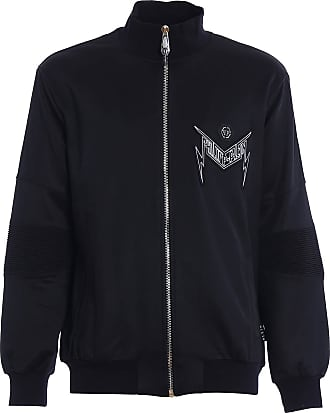 Philipp Plein Thunder Zipped Sweatshirt, XL Black