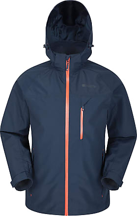 Mountain Warehouse Brisk Extreme Mens Waterproof Jacket - Adjustable Cuffs & Hood, Taped Seams Rain Coat, Breathable Winter Jacket - for Autmn, Camping in Cold Weather N