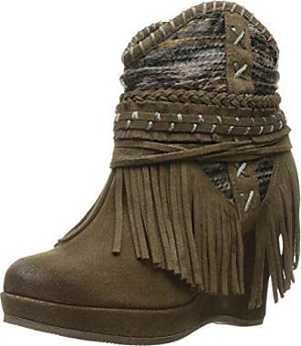a742f013775d Naughty Monkey Womens Canyon Dream Ankle Bootie Taupe 6.5 M US