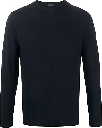 Zanone long-sleeved cotton T-shirt - Blue
